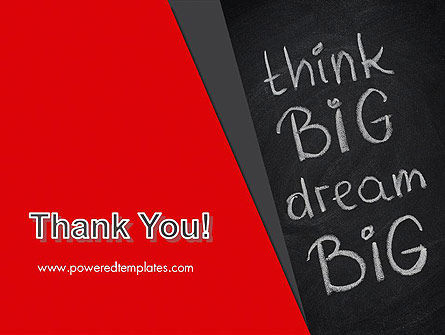 Think Big Dream Big on Chalk Board PowerPoint Template Slide 20