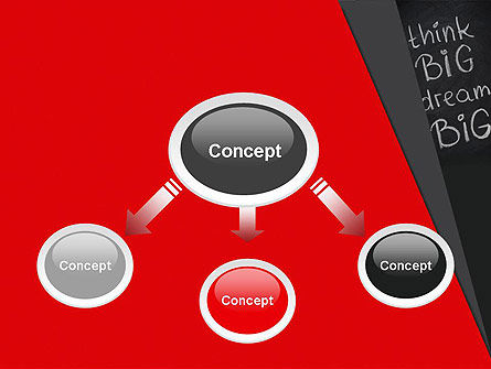 Think Big Dream Big on Chalk Board PowerPoint Template, Slide 4, 13097, Business Concepts — PoweredTemplate.com