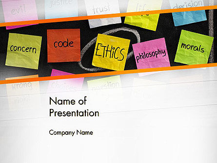 Ethics Principles PowerPoint Template, 13098, Education & Training — PoweredTemplate.com