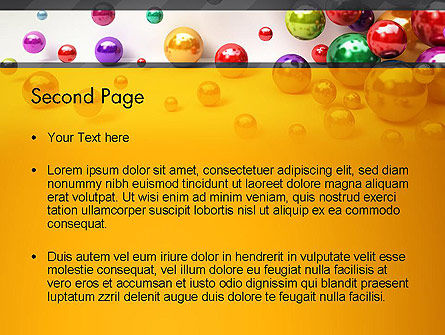 Shiny Colorful Balls PowerPoint Template, Slide 2, 13101, 3D — PoweredTemplate.com