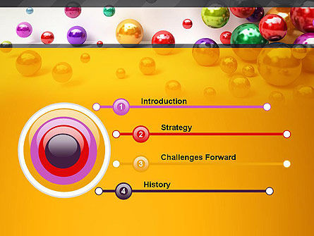 Shiny Colorful Balls PowerPoint Template, Slide 3, 13101, 3D — PoweredTemplate.com