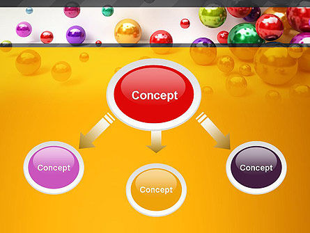 Shiny Colorful Balls PowerPoint Template, Slide 4, 13101, 3D — PoweredTemplate.com