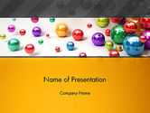 3D: Shiny Colorful Balls PowerPoint Template #13101