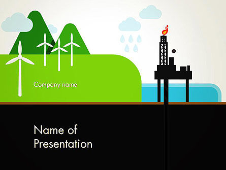 Nature & Environment: Clean Energy PowerPoint Template #13102