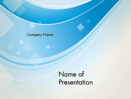 Pale Blue Wave PowerPoint Template, 13103, Abstract/Textures — PoweredTemplate.com