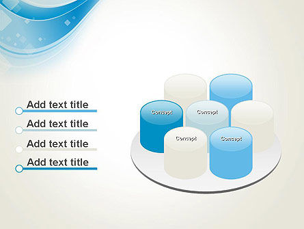 Pale Blue Wave PowerPoint Template Slide 12
