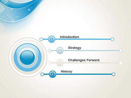 Pale Blue Wave PowerPoint Template Slide 3