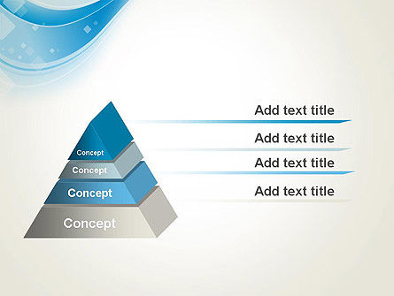 Pale Blue Wave PowerPoint Template, Slide 4, 13103, Abstract/Textures — PoweredTemplate.com