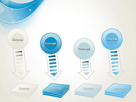Pale Blue Wave PowerPoint Template Slide 8