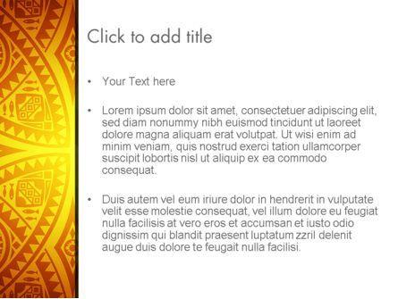 Ethnic Ornament PowerPoint Template, Slide 3, 13104, Art & Entertainment — PoweredTemplate.com
