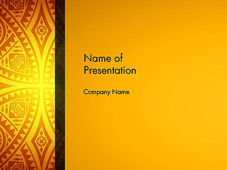 Art & Entertainment: Ethnic Ornament PowerPoint Template #13104