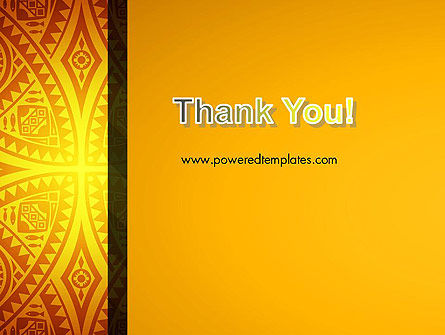 Ethnic Ornament PowerPoint Template Slide 20