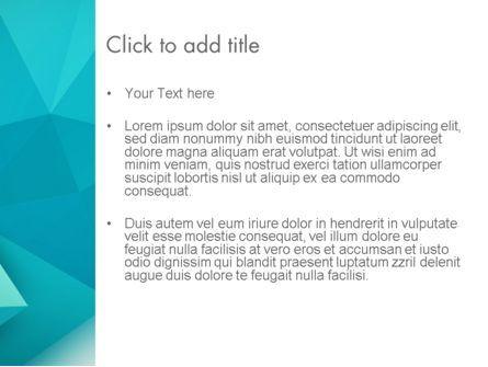 Polygonal Azure PowerPoint Template, Slide 3, 13106, Abstract/Textures — PoweredTemplate.com