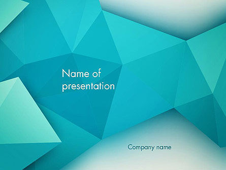 Polygonal Azure PowerPoint Template, 13106, Abstract/Textures — PoweredTemplate.com