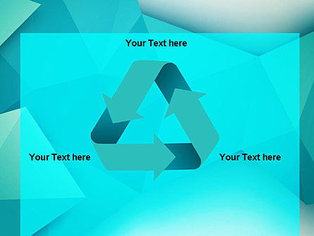 Polygonal Azure PowerPoint Template Slide 10