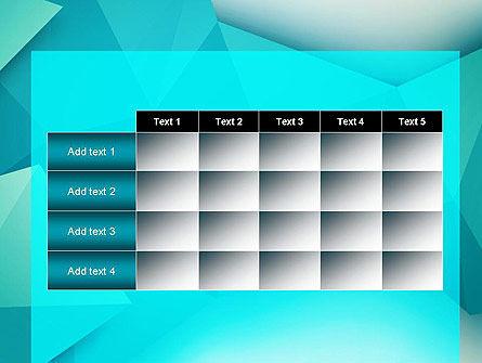 Polygonal Azure PowerPoint Template Slide 15