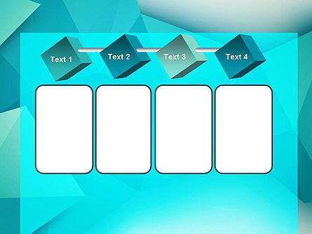 Polygonal Azure PowerPoint Template Slide 18