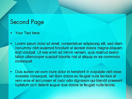 Polygonal Azure PowerPoint Template, Slide 2, 13106, Abstract/Textures — PoweredTemplate.com