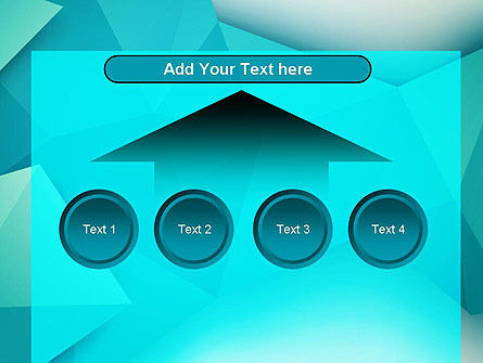 Polygonal Azure PowerPoint Template Slide 8
