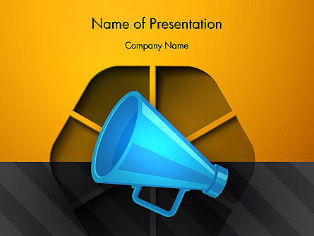 Speaking Trumpet PowerPoint Template