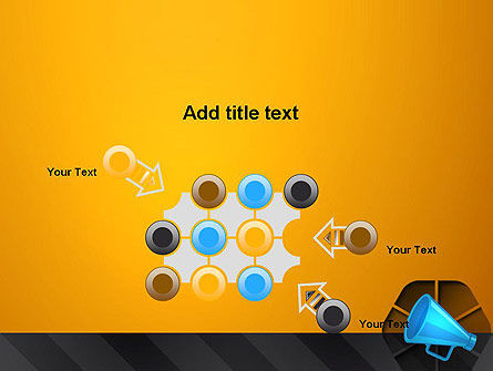 Speaking Trumpet PowerPoint Template Slide 10