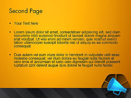 Speaking Trumpet PowerPoint Template Slide 2
