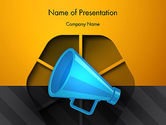 Careers/Industry: Speaking Trumpet PowerPoint Template #13108