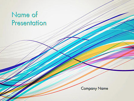 Abstract/Textures: Thin Colorful Lines PowerPoint Template #13109