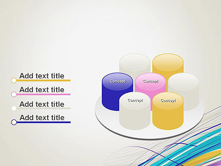 Thin Colorful Lines PowerPoint Template Slide 12