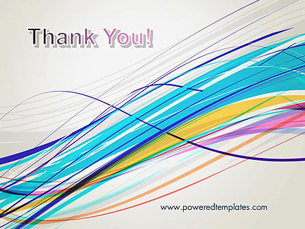 Thin Colorful Lines PowerPoint Template Slide 20