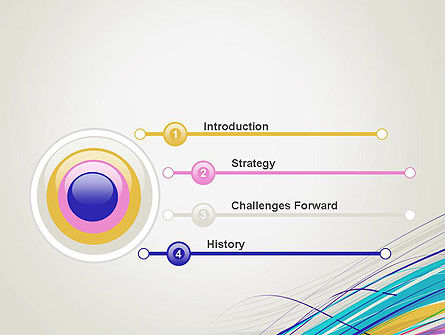 Thin Colorful Lines PowerPoint Template Slide 3