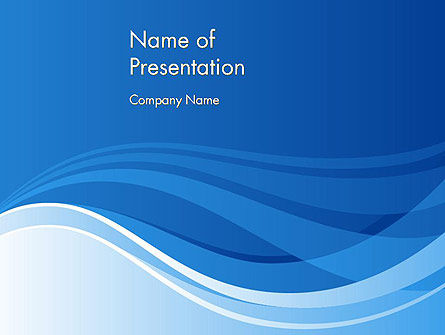Waving Stripes Abstract PowerPoint Template