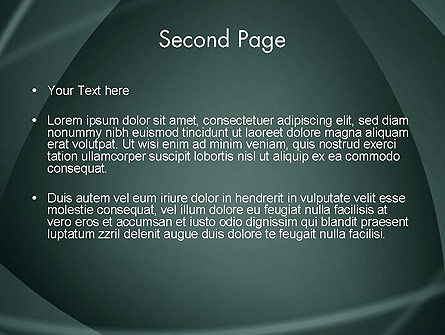 Abstract Diaphragm Style PowerPoint Template Slide 2
