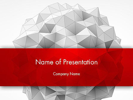Abstract/Textures: Polygonal Sphere PowerPoint Template #13113