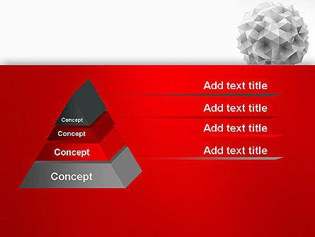 Polygonal Sphere PowerPoint Template Slide 12