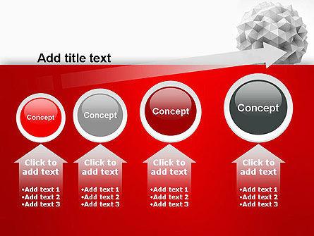 Polygonal Sphere PowerPoint Template Slide 13