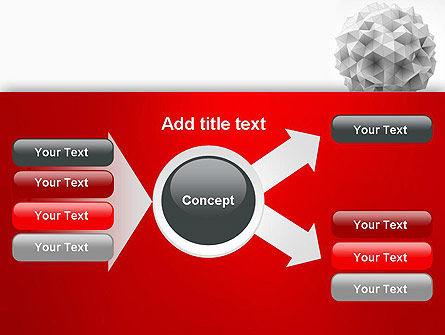 Polygonal Sphere PowerPoint Template Slide 14