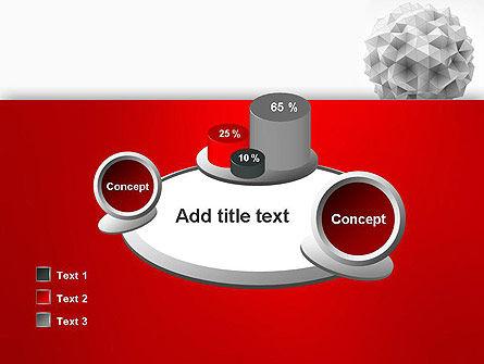 Polygonal Sphere PowerPoint Template Slide 16