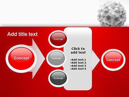 Polygonal Sphere PowerPoint Template Slide 17