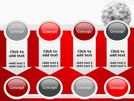 Polygonal Sphere PowerPoint Template Slide 18
