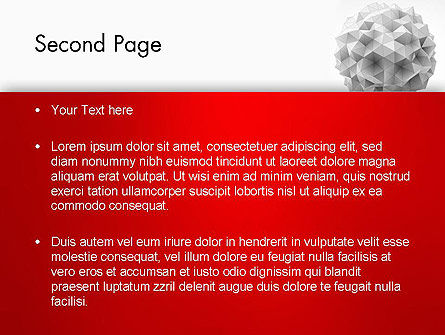 Polygonal Sphere PowerPoint Template Slide 2
