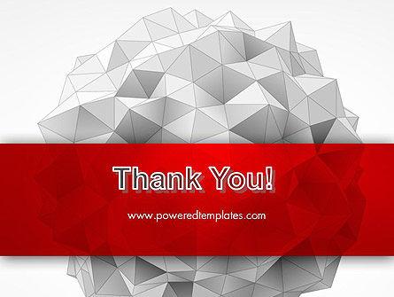 Polygonal Sphere PowerPoint Template Slide 20
