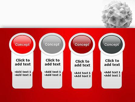 Polygonal Sphere PowerPoint Template Slide 5