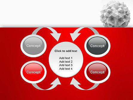 Polygonal Sphere PowerPoint Template Slide 6