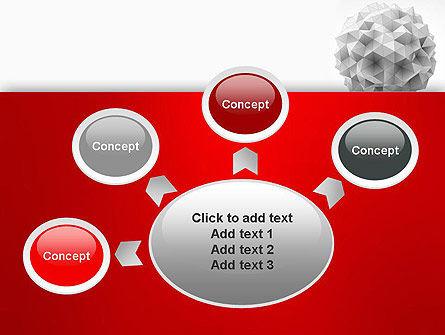 Polygonal Sphere PowerPoint Template Slide 7