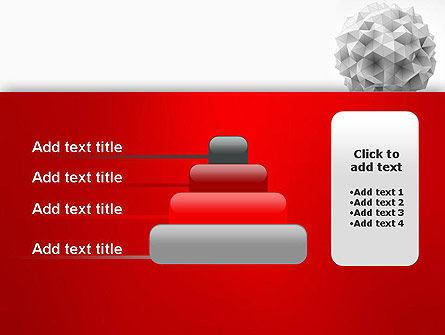 Polygonal Sphere PowerPoint Template Slide 8