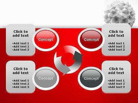 Polygonal Sphere PowerPoint Template Slide 9