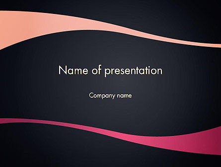 Ocher and Pink Waves PowerPoint Template