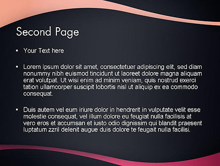 Ocher and Pink Waves PowerPoint Template, Slide 2, 13115, Abstract/Textures — PoweredTemplate.com