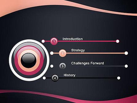 Ocher and Pink Waves PowerPoint Template Slide 3